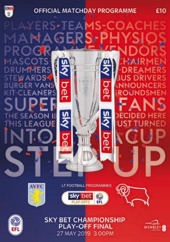 2019 CHAMPIONSHIP PLAY-OFF FINAL - ASTON VILLA v DERBY COUNTY
